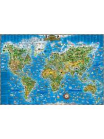 detska kartinna karta na sveta